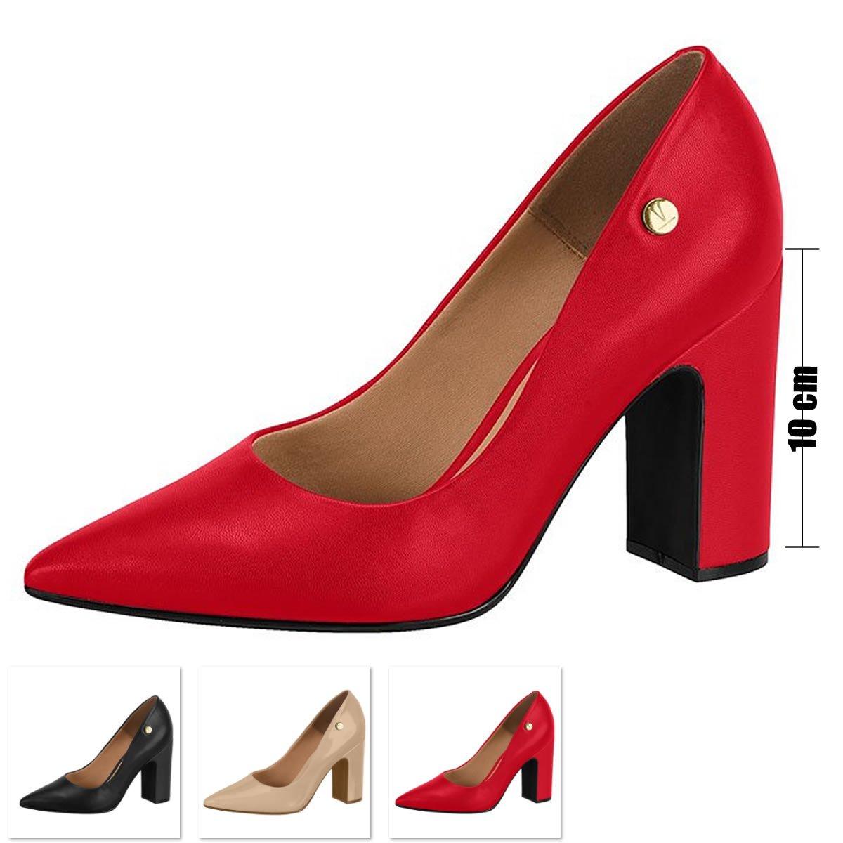 7c70d931e0 Sapato Salto Grosso Vizzano Verniz