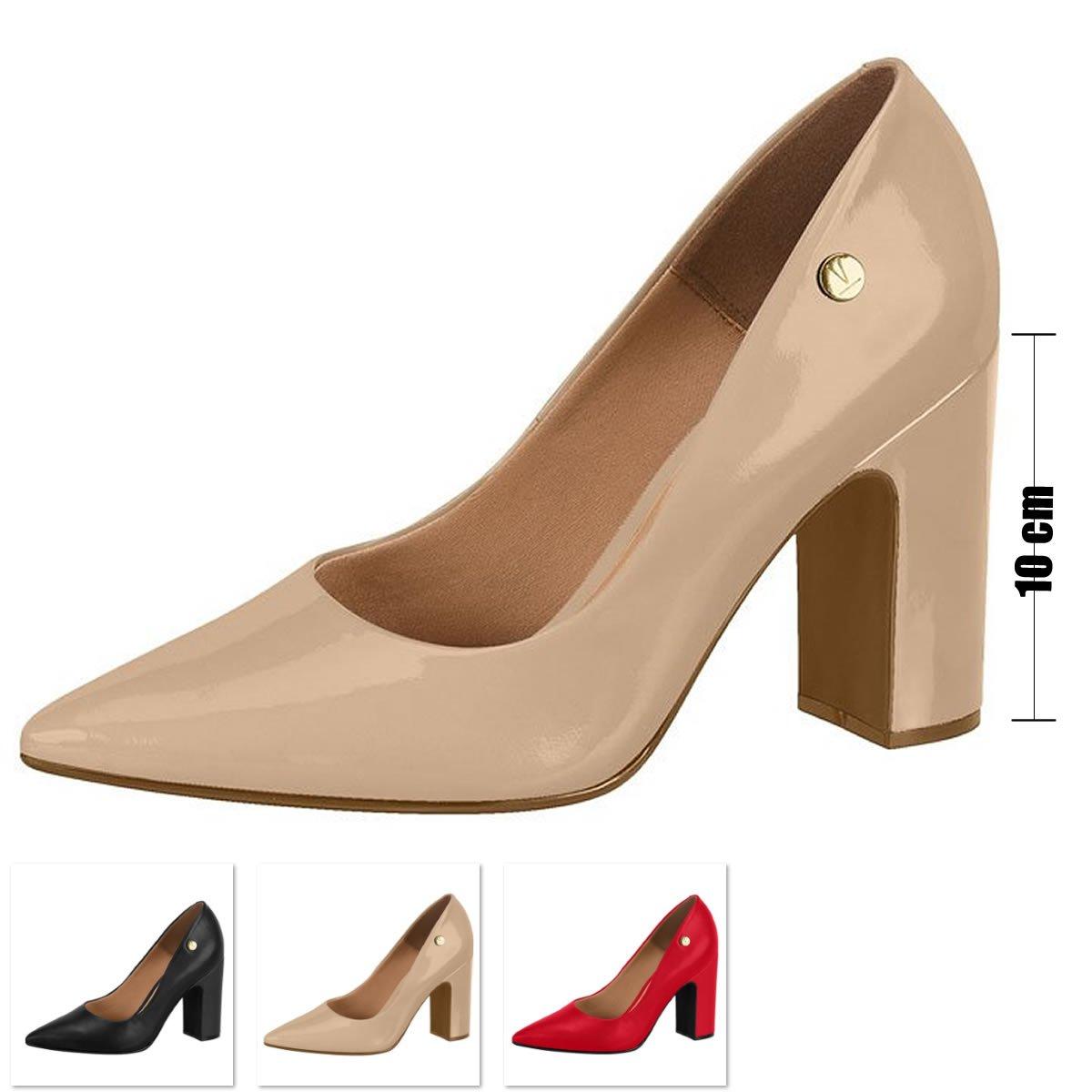 3c710988f9 Sapato Salto Grosso Vizzano Verniz