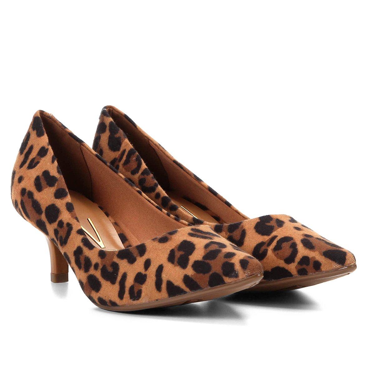 39671f8e87 Sapato Scarpin Animal Print Salto Baixo Vizzano Animal Print - MM Concept