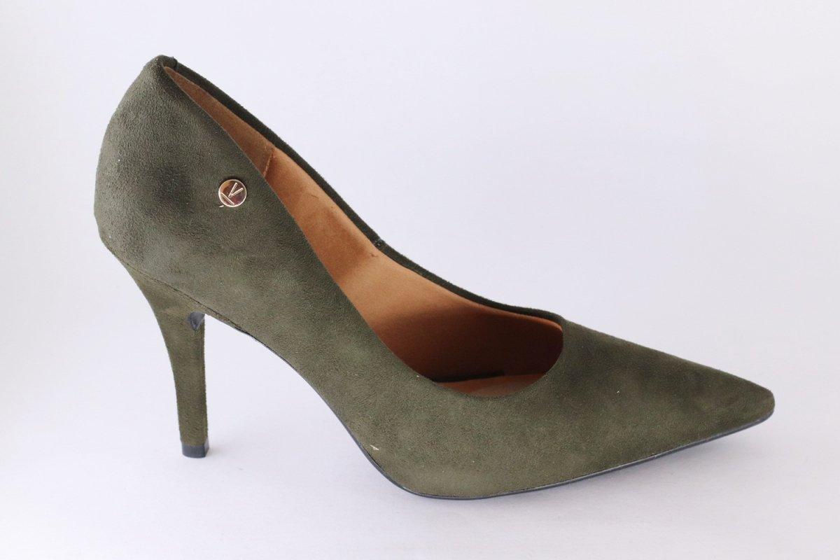 b330a89d0a Sapato Scarpin Camurça Vizzano Salto Alto Verde - MM Concept