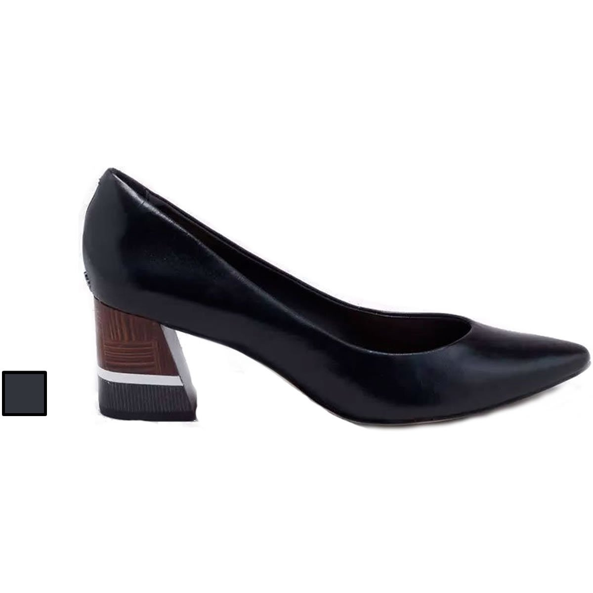 da5c630411d Sapato Scarpin Capodarte Salto Grosso