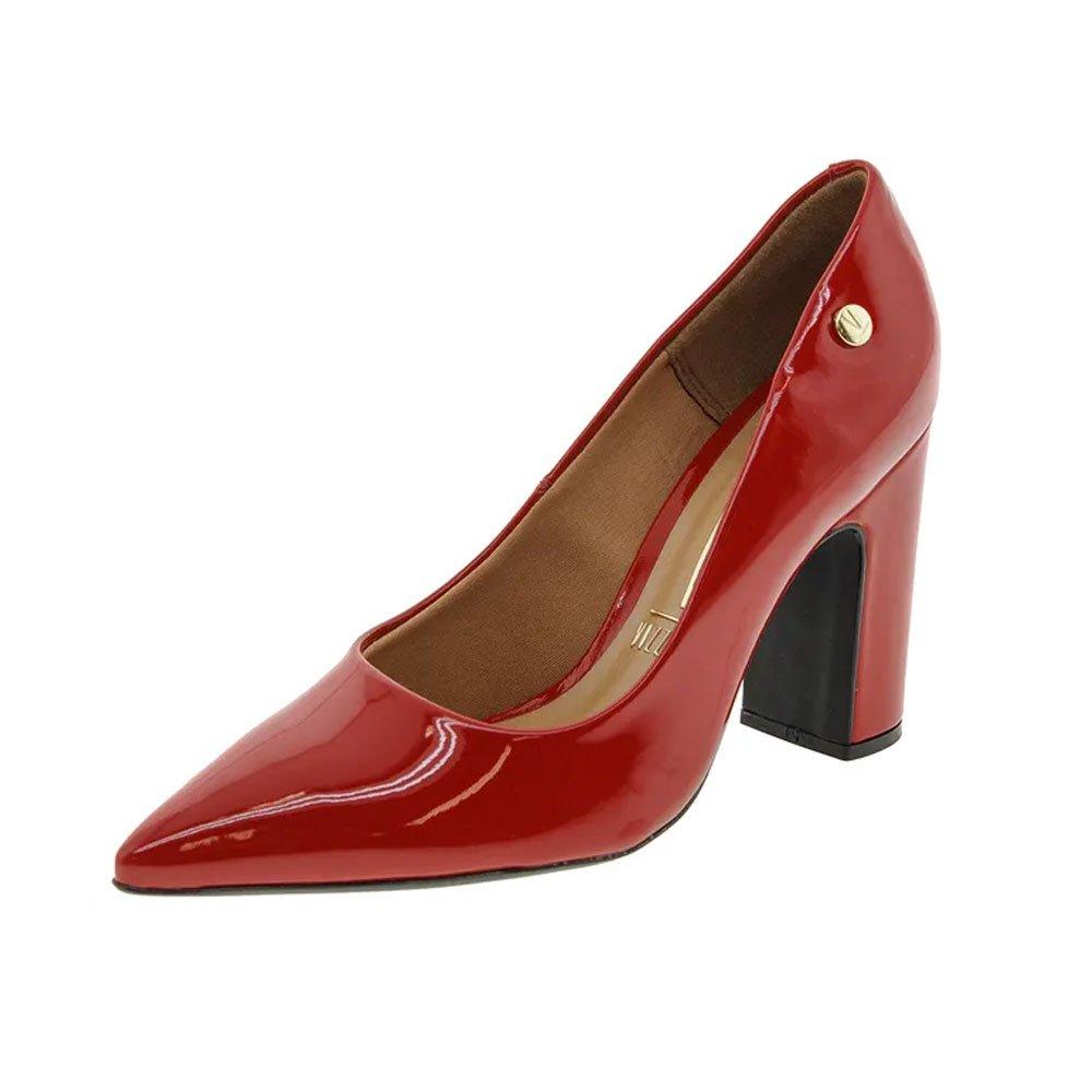 baead479a5 Sapato Scarpin Salto Grosso Bico Fino Vizzano Vermelho - MM Concept