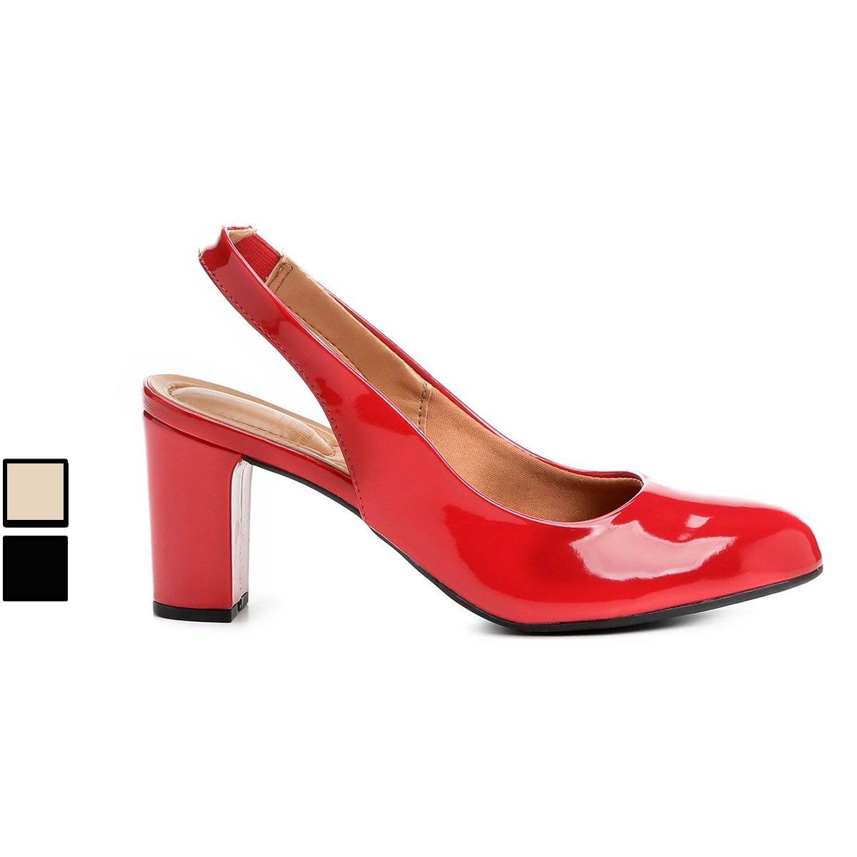 6996b17c84 Scarpin Vizzano Salto Médio Chanel Bico Redondo