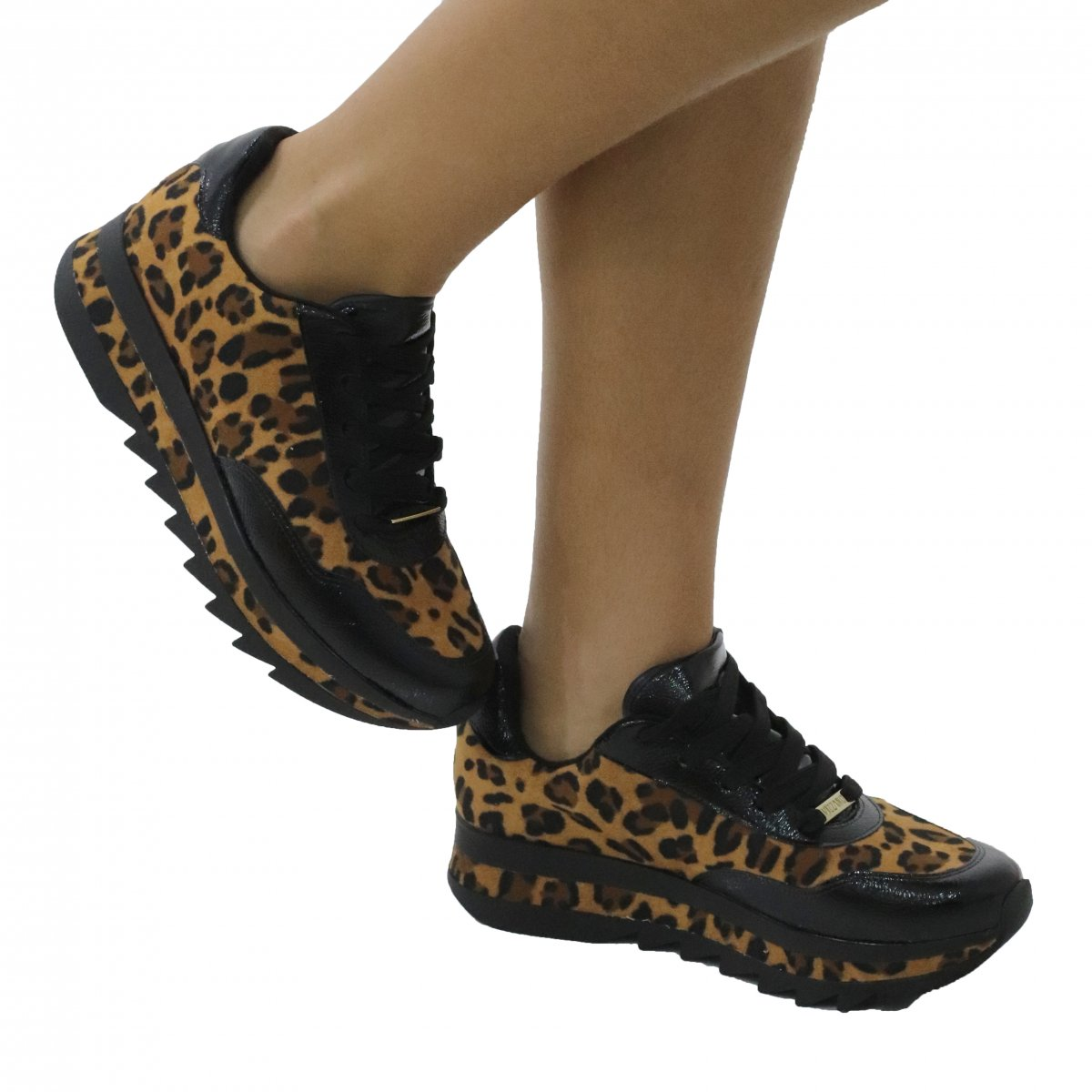 91e845fac8 Tênis Feminino Casual Animal Print Jogging Vizzano Animal Print - MM Concept