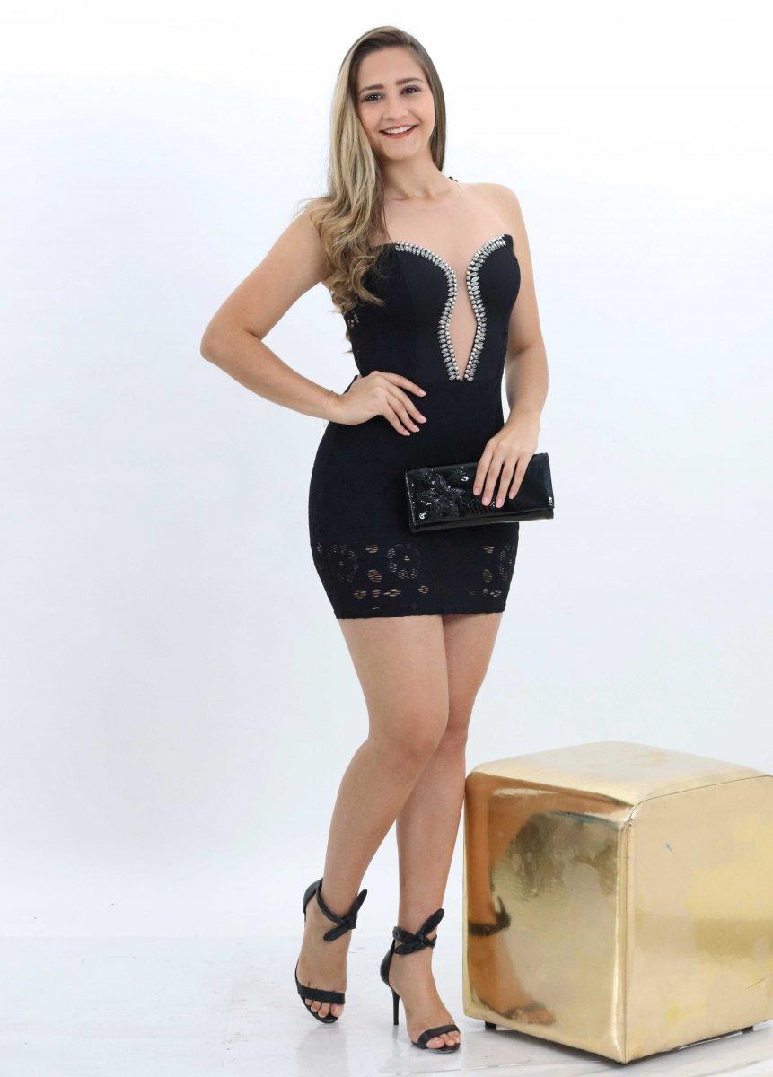 adc0c7ada Vestido Feminino Renda com Tule