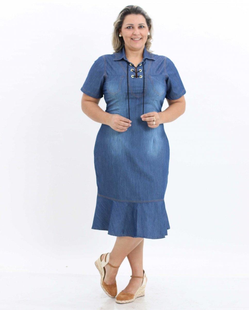 4666c50c66 Vestido Feminino Plus Size Moda Evangélica