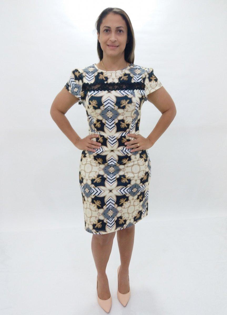 2977bb8ec Vestido Plus Size Estampado Suplex- Moda Evangélica