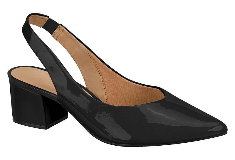 8f5269f526 Sapato Chanel Vizzano Salto Grosso Preto - MM Concept