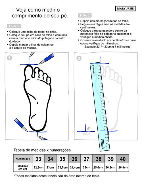 Imagem - Tabela de medidas