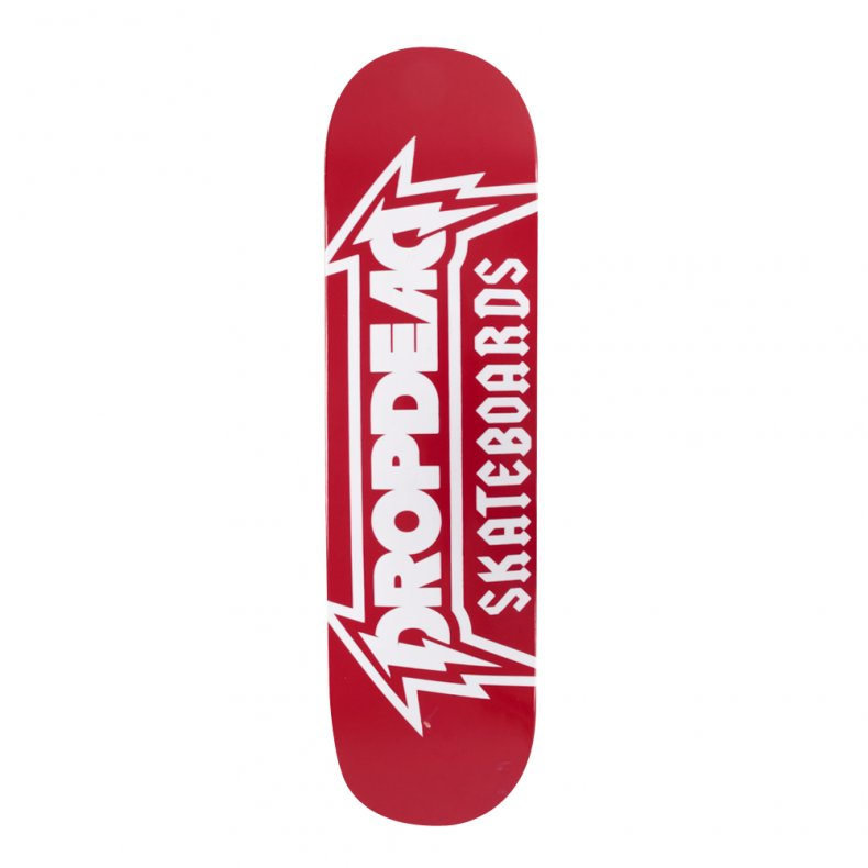 SHAPE DROP DEAD METALICA RED 8.125