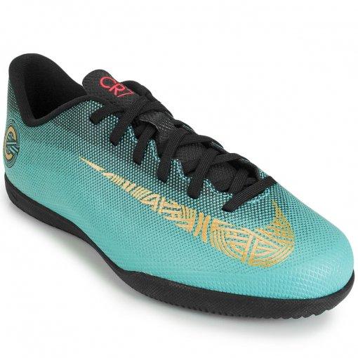 Chuteira Nike Mercurial VaporX 12 Club GS CR7 IC  6e49fb860933f