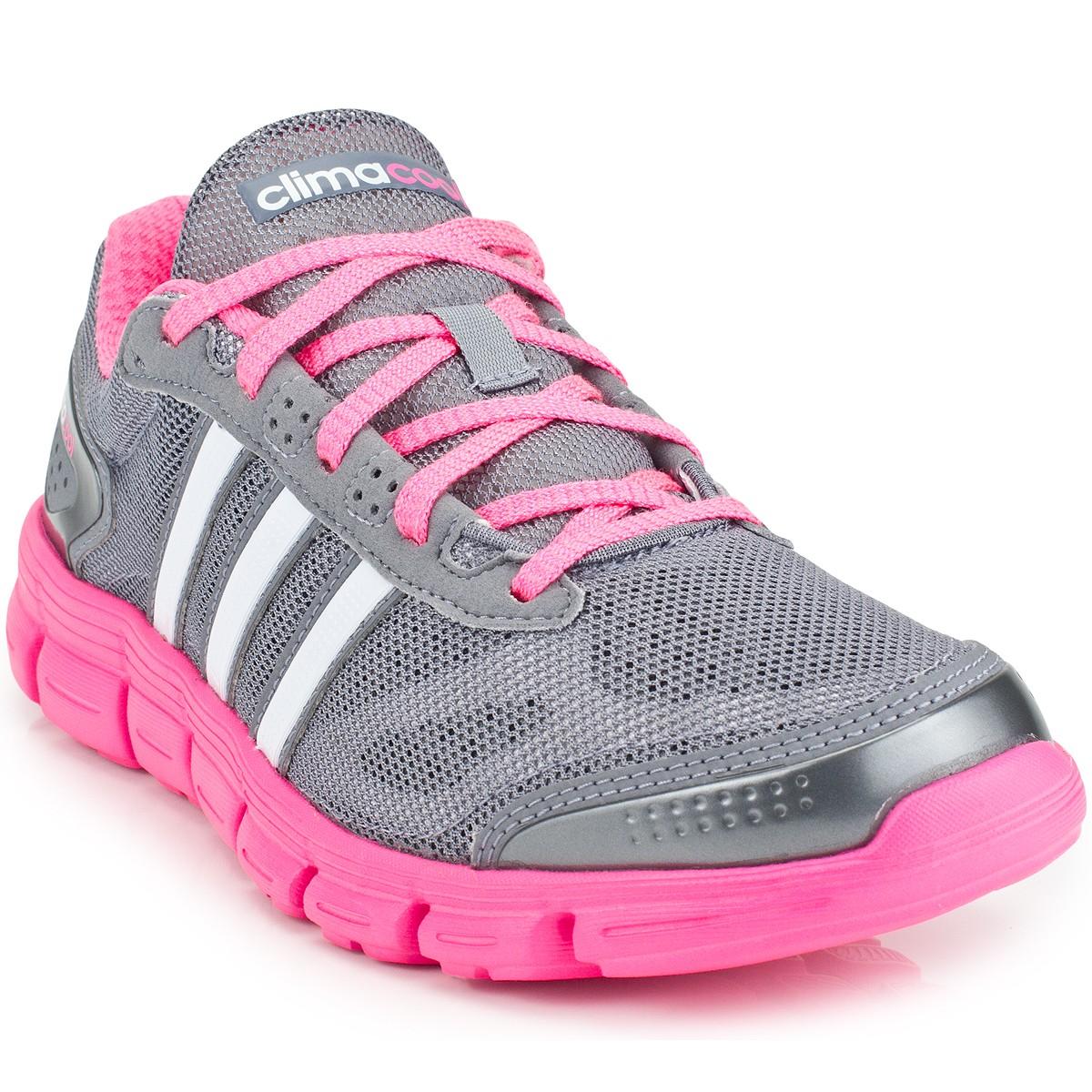 tenis adidas rosa e cinza