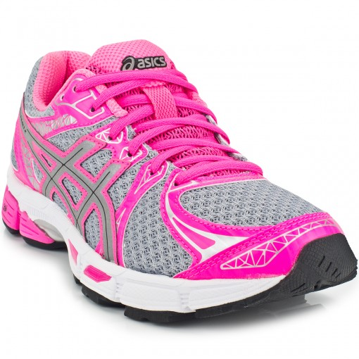 tenis asics feminino rosa e cinza