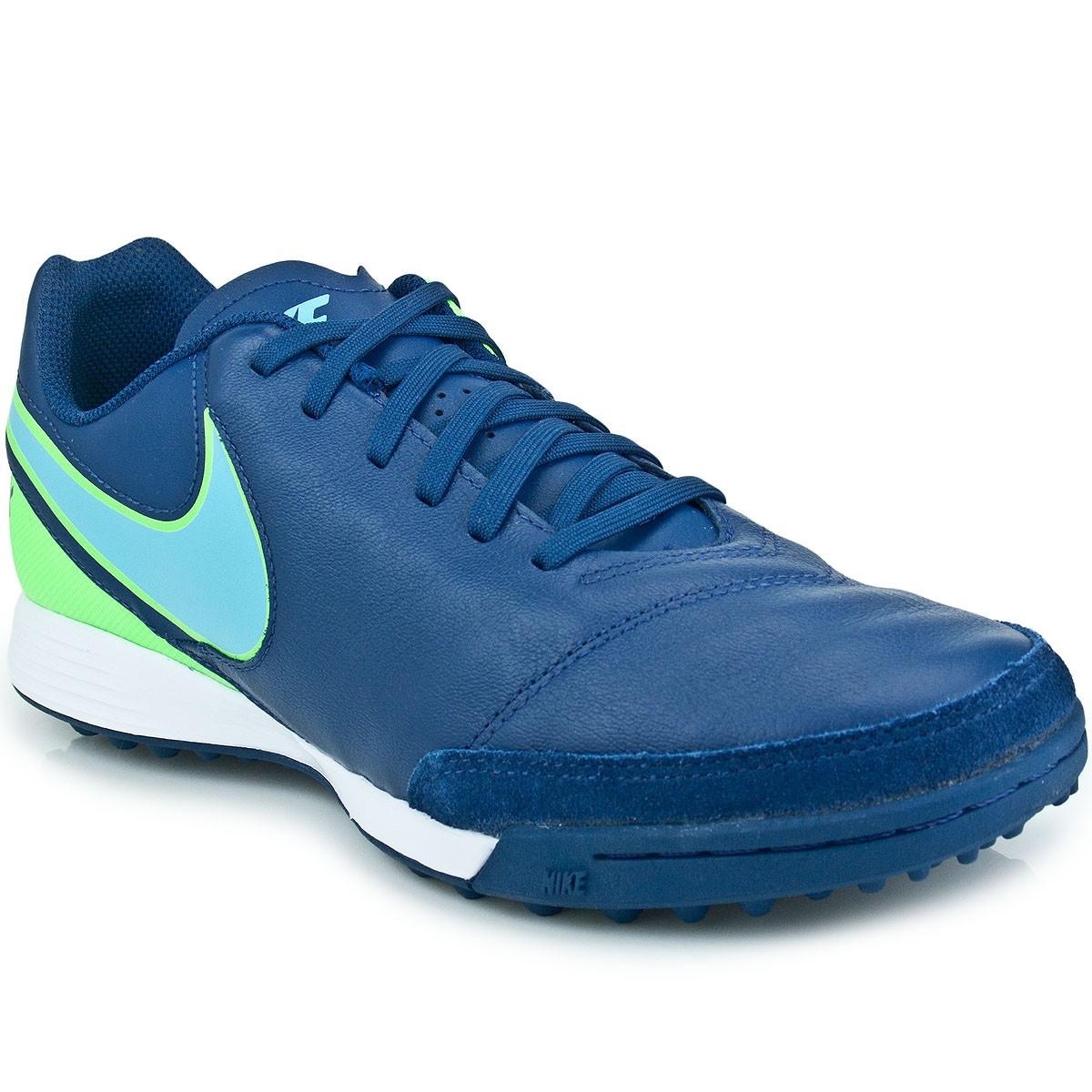 Chuteira Nike Tiempo Genio II Leather TF  30831f9ceecd6
