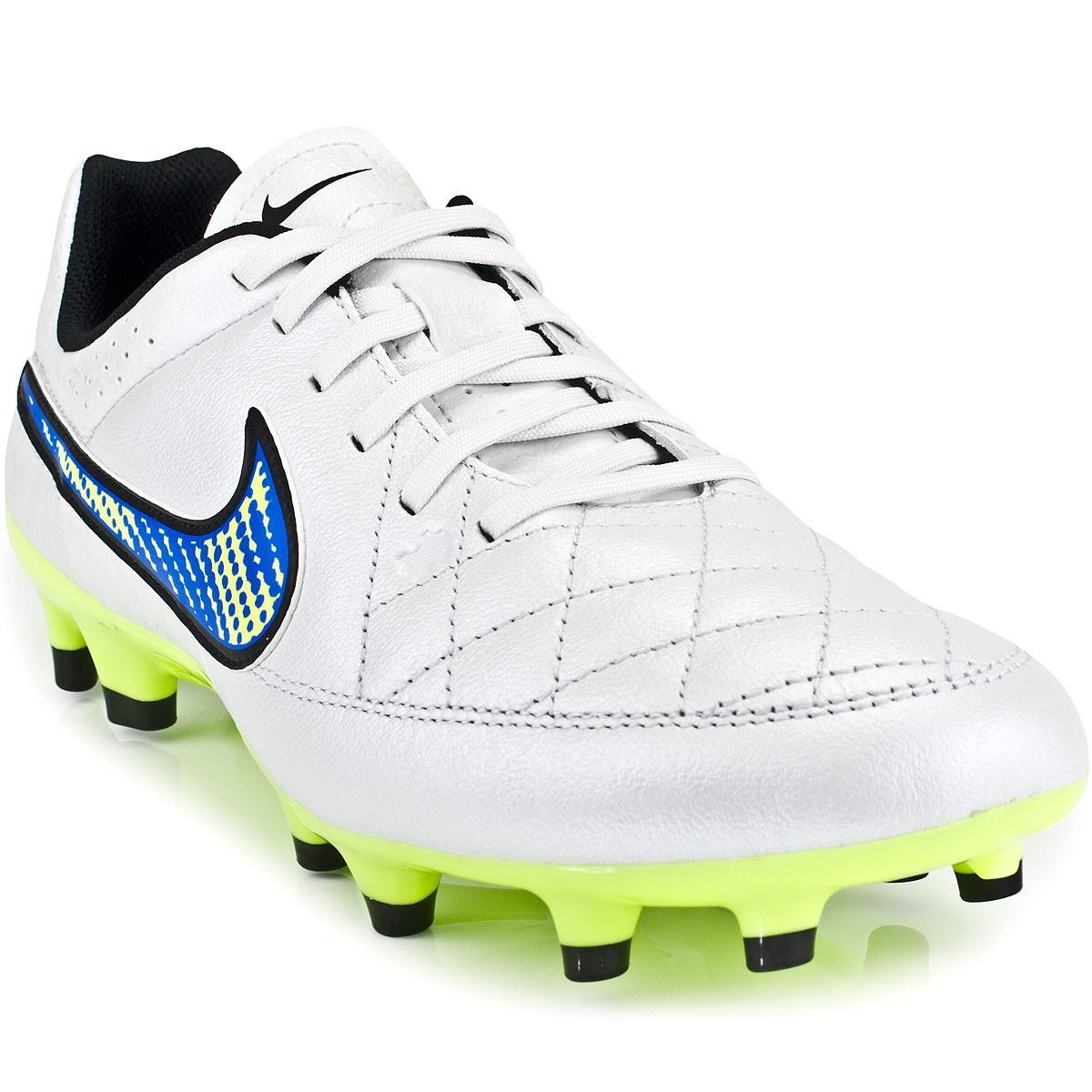 Chuteira Nike Tiempo Genio Leather FG 631282  9a39b49e5d95e