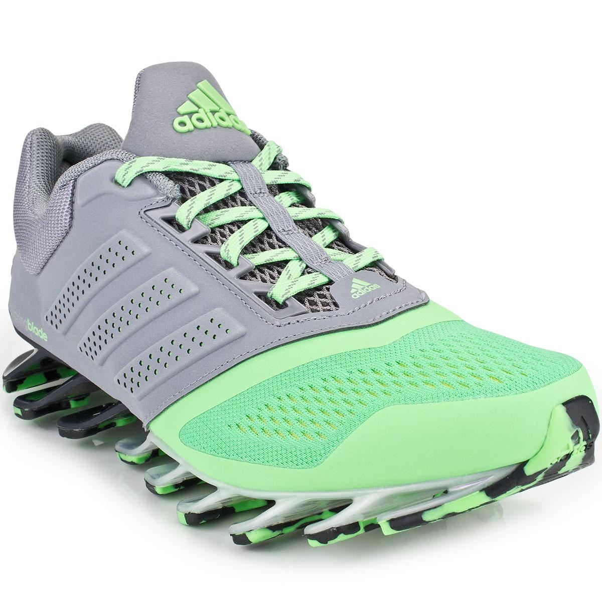 adidas springblade verde com cinza