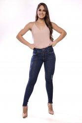 Imagem - calça jeans detonada com zipper na barra - 170332A
