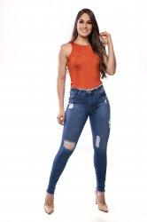 Imagem - calça jeans detonada + desfiada  - 170330