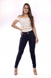 Imagem - calça jeans feminina azul escuro - 170295