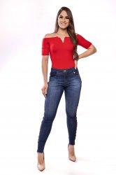 Imagem - calça jeans feminina com barra desfiada - 170319