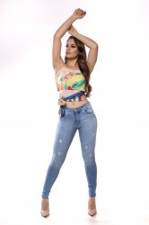 Imagem - calça jeans feminina detonada  - 170281