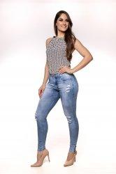 Imagem - calça jeans feminina detonada com zipper na perna - 200332