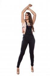 Imagem - macacão preto feminino com zipper  - 5041
