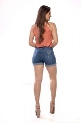 Imagem - short curto jeans feminino barra dobrada - 200372
