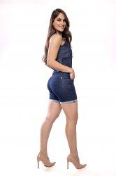 Imagem - short médio feminino jeans barra virada - 200363