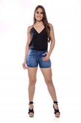 Imagem - short medio jeans feminino barra curvada  - 200364