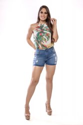 Imagem - short médio jeans feminino detonado - 200371