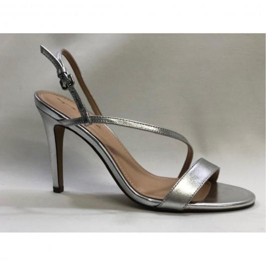 Sandalia Tiras Metalizada  Tabita