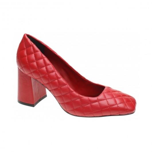 Sapato Matelasse Vermelho Tabita