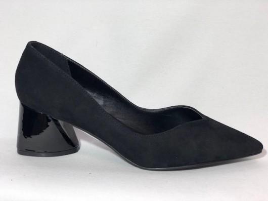 Sapato Nobuck   Salto Verniz