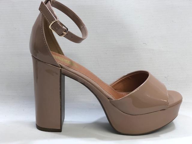 e05f578cf7 Sandalia Meia Pata 14115 - NUDE - Mercado do Sapato