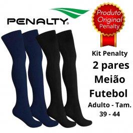 Imagem - Kit 2 Pares Meião De Futebol Adulto Penalty