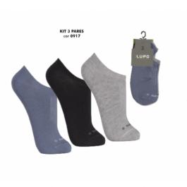 Imagem - Kit 3 pares meia sapatilha invisível Lupo Sport