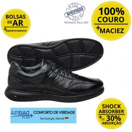 Imagem - Sapato Masculino Social Couro Jota Pe 3D Total Air