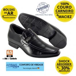 Imagem - Sapato Masculino Social Couro Jota Pe 6.5cm mais Alto Grow Air King