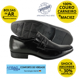 Imagem - Sapato Masculino Social Couro Jota Pe Air King