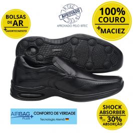 Imagem - Sapato Masculino Social Couro Jota Pe Air Life