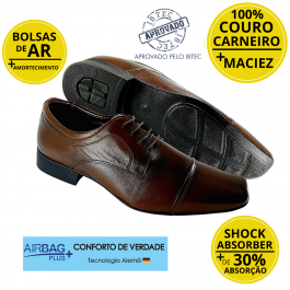 Imagem - Sapato Masculino Social Couro Jota Pe Air Vinitti