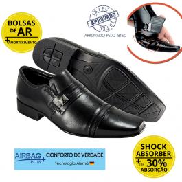 Imagem - Sapato Masculino Social Couro Jota Pe Flex Feet