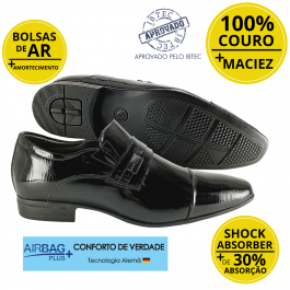 Imagem - Sapato Masculino Social Couro Jota Pe Verniz Air Tissot