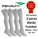 Kit 2 Pares Meião De Futebol Adulto Penalty