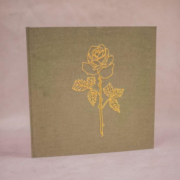 álbum de fotos big bordado verde botânico - coleção avós do amor - mim papelaria