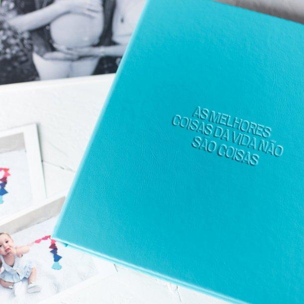 álbum de fotos m personalizado tiffany - mim papelaria