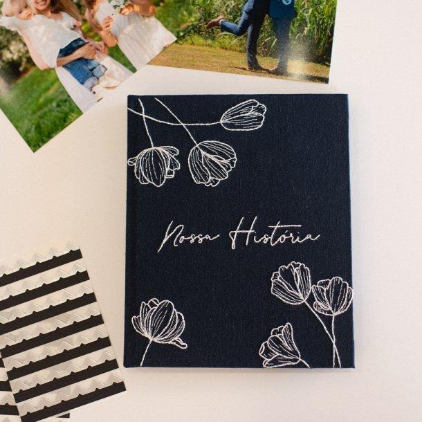 álbum m bordado à mão - nossa história - mim papelaria