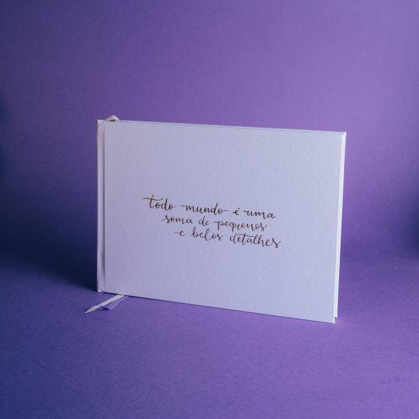 álbum de fotos m horizontal - coleção sweetheart - mim papelaria