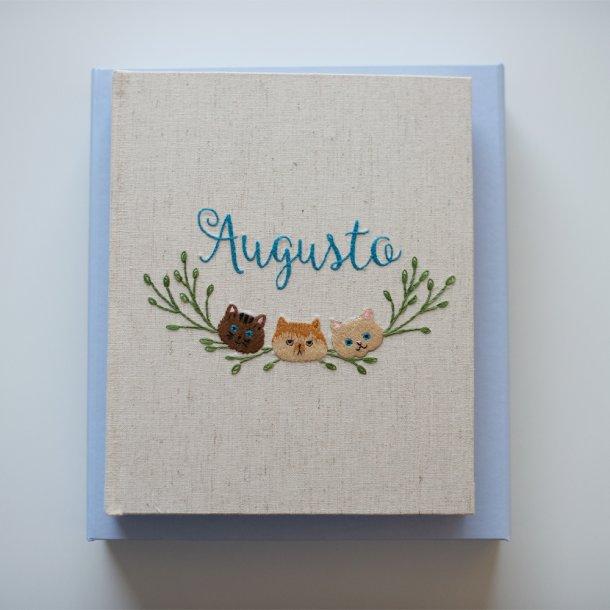 álbum de fotos meu primeiro aninho - bordado à mão - mim papelaria